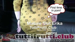 Fat mom Erika public casting