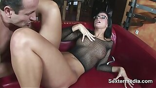 Hot brunette amateur milf takes two dicks aftrer each other loving sex so much