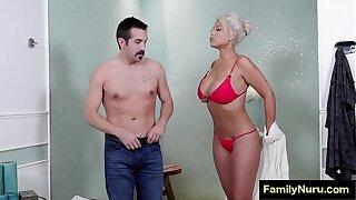 Hot big tits milf massage