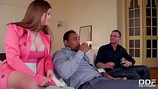 Horny As Fuck - Husband And Friend Double Penetrate Hot Milf Lucia Love
