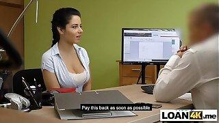 Busty massage MILF needs a loan to open her own shop