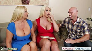 Busty Alura Jenson fuck in threesome