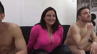 Natalia Ruso and a rain of cocks just for her