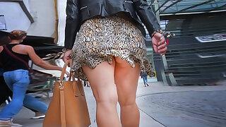 milf legs with upskirt