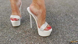 High Heels Mules Walking