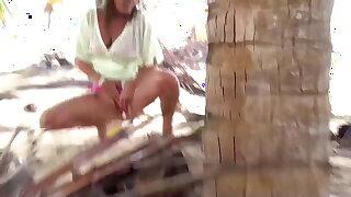Das erste Mal Punta Cana, Blasen + Pissen unter Palmen