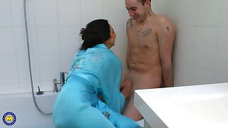 Sexy mature gets taboo anal sex from boy