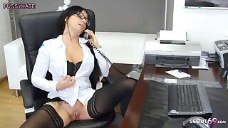 German Cougar Secretary MILF had Phone Sex, Dirty Talk
