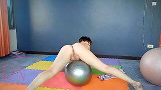 Sheer red yoga leotards. Naked yoga. Nude yoga, Naked gymnast