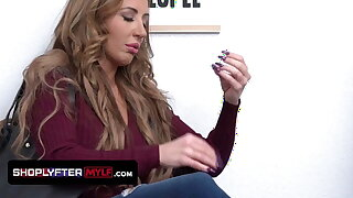 Beautiful Cougar Gags On Mall Guard's Big Cock