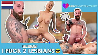 OMG: These two lesbians let me join! SEXYBUURVROUW.com