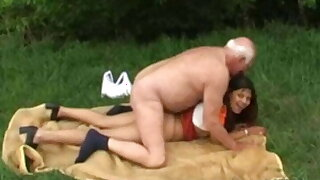 Old Man Gets Laid Outdoors In Holland
