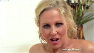Dirty MILF Julia Ann Finger Fucks Her Pink Pussy In Bathtub!