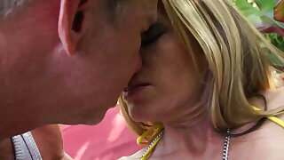 Milf With Big Tits VS Old Pig With Huge Cock