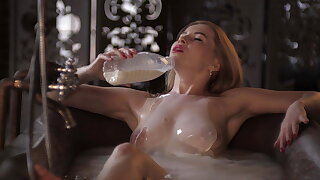 SugarNadya – depilation master relaxes after a long day at work